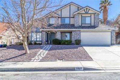 3232 Sandstone Court, Palmdale, CA 93551 - MLS#: SR19058396