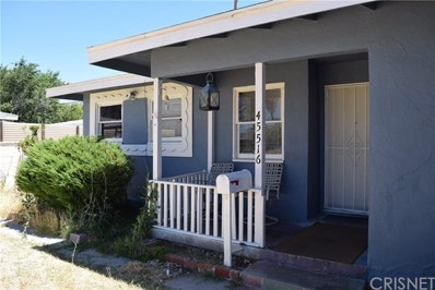 45516 Lostwood Avenue, Lancaster, CA 93534 - MLS#: SR19175430