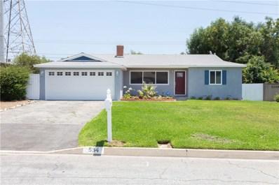 534 Tocino Drive, Duarte, CA 91010 - MLS#: SR19241743