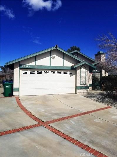 2203 Estrella Court, Palmdale, CA 93550 - MLS#: SR19261155