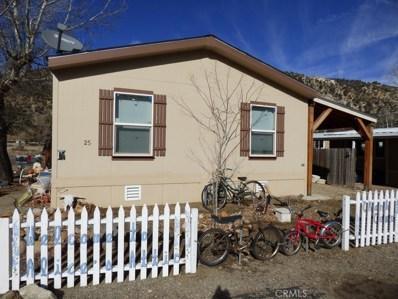 6132 Frazier Mountain Park Road UNIT 25, Frazier Park, CA 93225 - MLS#: SR19280250