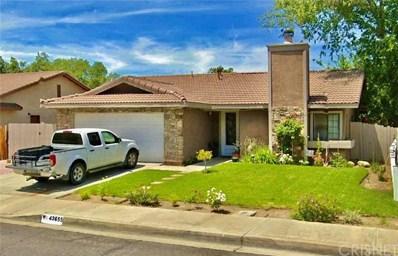 43655 Santa Rosa Circle, Lancaster, CA 93535 - MLS#: SR19282105