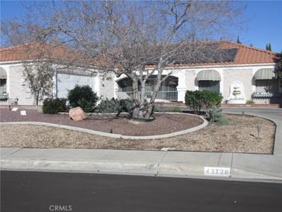 43729 W Home Place Drive W, Lancaster, CA 93536 - MLS#: SR19284028