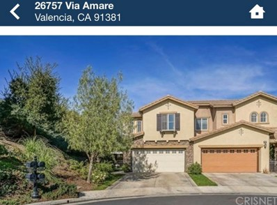 26757 Via Amare, Valencia, CA 91381 - MLS#: SR20191043