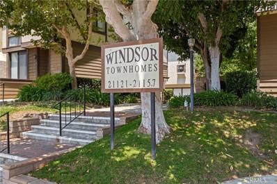 21121 Lassen Street UNIT 3, Chatsworth, CA 91311 - MLS#: SR21152448