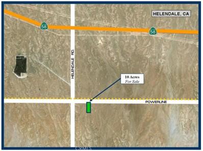 0 Near Helendale, Helendale, CA 92342 - MLS#: SW17212225