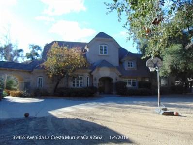 39455 Avenida La Cresta, Murrieta, CA 92562 - MLS#: SW18079727