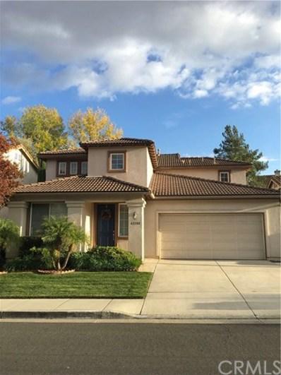 42100 Southern Hills Drive, Temecula, CA 92591 - MLS#: SW19008057