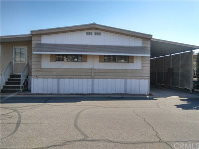 18219 Valley Blvd UNIT 42, Bloomington, CA 92316 - MLS#: SW20229346