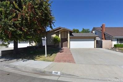 118 Corta Cresta, Walnut, CA 91789 - MLS#: TR17171015