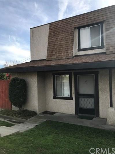 310 E Olive Avenue UNIT F, Monrovia, CA 91016 - MLS#: WS19006459