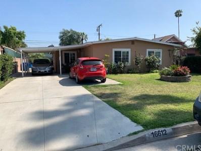 16612 E Bellbrook Street, Covina, CA 91722 - MLS#: WS19126866