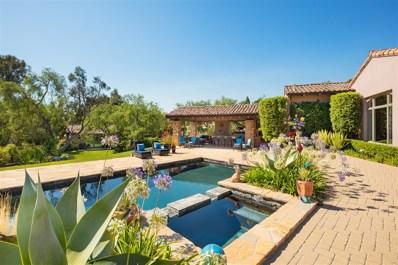 18320 Colina Fuerte, Rancho Santa Fe, CA 92067 - MLS#: 170054237