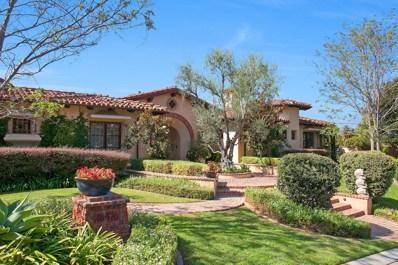 18476 Via Candela, Rancho Santa Fe, CA 92091 - MLS#: 170055607