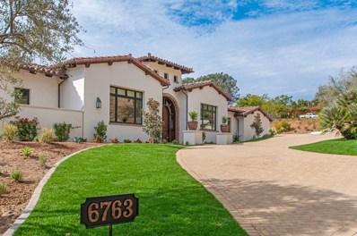 6763 Calle Del Cruce, Rancho Santa Fe, CA 92067 - MLS#: 170058492