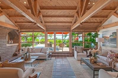 5905 Lago Lindo, Rancho Santa Fe, CA 92067 - MLS#: 180000554