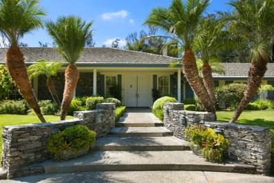 5489 Calle Chaparro, Rancho Santa Fe, CA 92067 - MLS#: 180002223