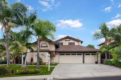 249 Via Palacio, Encinitas, CA 92024 - MLS#: 180009631
