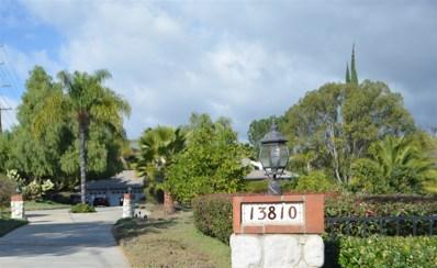 13810 Del Poniente Rd., Poway, CA 92064 - MLS#: 180012920