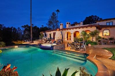5856 Lago Lindo, Rancho Santa Fe, CA 92067 - MLS#: 180022007