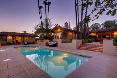 5138 San Elijo, Rancho Santa Fe, CA 92067 - MLS#: 180025546