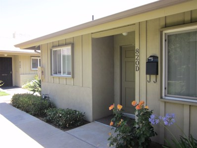 820 East Washington Ave UNIT D, Escondido, CA 92025 - MLS#: 180028826