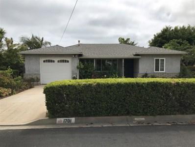 1701 S Horne St, Oceanside, CA 92054 - MLS#: 180035219