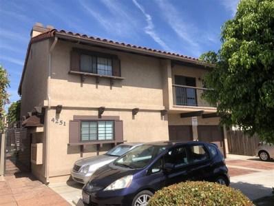 4251 33rd Street UNIT 3, San Diego, CA 92104 - MLS#: 180036600