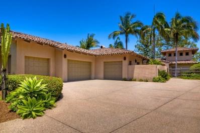 18395 Colina Fuerte, Rancho Santa Fe, CA 92067 - MLS#: 180037102