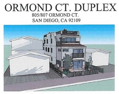 805 Ormond Court, San Diego, CA 92109 - MLS#: 180049560