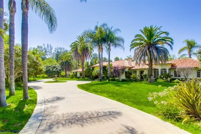 6036 San Elijo, Rancho Santa Fe, CA 92067 - MLS#: 180050817