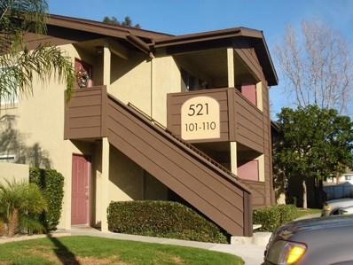 521 Calle Montecito UNIT 106, Oceanside, CA 92057 - MLS#: 180051458