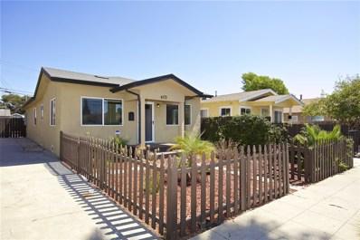 4173 39th Street, San Diego, CA 92105 - MLS#: 180052310