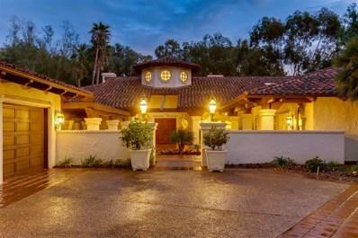 16745 Avenida Arroyo Pasajero, Rancho Santa Fe, CA 92067 - MLS#: 180057104