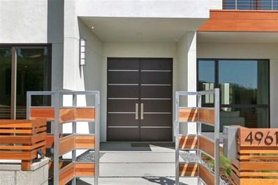 4961 Kendall St., San Diego, CA 92109 - #: 180068430