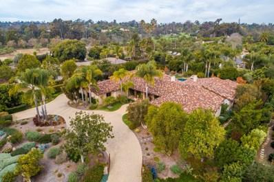 6320 El Sicomoro, Rancho Santa Fe, CA 92067 - MLS#: 190020000