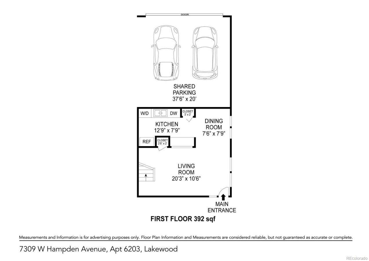 MLS# 8240620 - 17 - 7309 W Hampden Avenue #6203, Lakewood, CO 80227