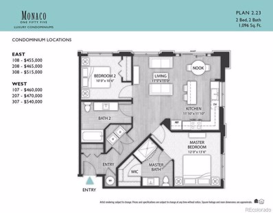 155 S Monaco Parkway UNIT 307, Denver, CO 80224 - MLS#: 6453511