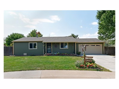 965 Pleasant View Street, Castle Rock, CO 80104 - MLS#: 6460949