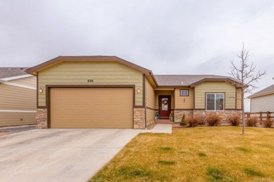 830 Village Drive, Milliken, CO 80543 - MLS#: 6791578