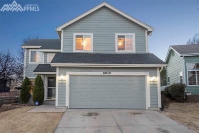 4870 Ardley Drive, Colorado Springs, CO 80922 - MLS#: 1384554