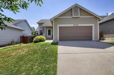 4678 Bittercreek Drive, Colorado Springs, CO 80922 - MLS#: 2291132