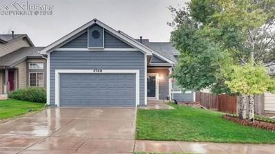 4768 Ardley Drive, Colorado Springs, CO 80922 - MLS#: 3008549