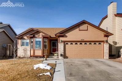 4218 Ascendant Drive, Colorado Springs, CO 80922 - MLS#: 4214579