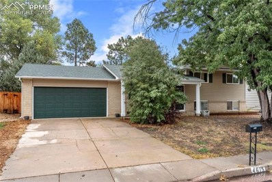 4615 Bella Drive, Colorado Springs, CO 80918 - MLS#: 5235376