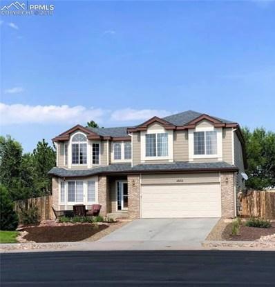 4850 Hawk Meadow Drive, Colorado Springs, CO 80916 - MLS#: 7418905