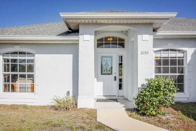 2151 SE Cogan Drive, Palm Bay, FL 32909 - MLS#: 809111