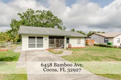 6458 Bamboo Avenue, Cocoa, FL 32927 - MLS#: 810275