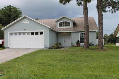 521 SE Seaport Terrace, Palm Bay, FL 32909 - MLS#: 817929