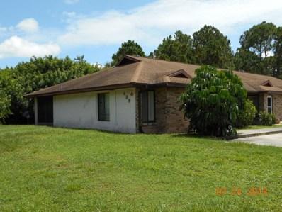 499 Thor Avenue UNIT 1, Palm Bay, FL 32909 - MLS#: 819991